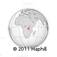 Outline Map of Lukumbo, rectangular outline