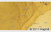 """Physical 3D Map of the area around 5°35'51""""S,34°55'29""""E"""