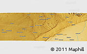 """Physical Panoramic Map of the area around 5°35'51""""S,34°55'29""""E"""