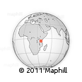 Outline Map of Kilwa, rectangular outline