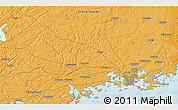"""Political 3D Map of the area around 60°16'48""""N,24°43'30""""E"""