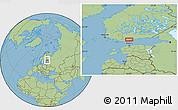 "Savanna Style Location Map of the area around 60°16'48""N,24°43'30""E"