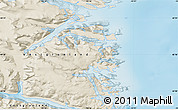 """Shaded Relief Map of the area around 60°16'48""""N,43°16'29""""W"""
