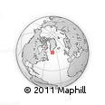 """Outline Map of the Area around 60° 16' 48"""" N, 43° 16' 29"""" W, rectangular outline"""