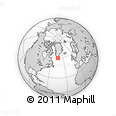 Outline Map of Nuuk, rectangular outline