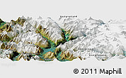 Satellite Panoramic Map of Nuuk