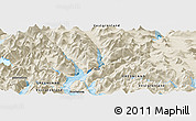 Shaded Relief Panoramic Map of Nuuk