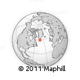 Outline Map of Nanortalik, rectangular outline