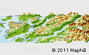 Physical Panoramic Map of Nanortalik