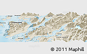 "Shaded Relief Panoramic Map of the area around 60° 16' 48"" N, 44° 58' 30"" W"