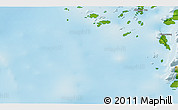 """Physical 3D Map of the area around 60°16'48""""N,45°49'30""""W"""