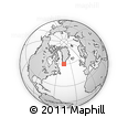 """Outline Map of the Area around 60° 16' 48"""" N, 46° 40' 29"""" W, rectangular outline"""