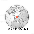 Outline Map of Gävle, rectangular outline