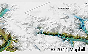 """Satellite 3D Map of the area around 60°37'44""""N,44°7'30""""W"""