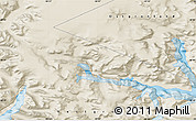 """Shaded Relief Map of the area around 60°37'44""""N,44°7'30""""W"""