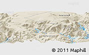 "Shaded Relief Panoramic Map of the area around 60° 37' 44"" N, 44° 7' 30"" W"