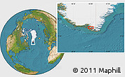 Satellite Location Map of Qunnermiut