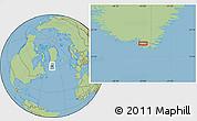 Savanna Style Location Map of Sermilik
