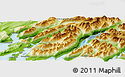 Physical Panoramic Map of Qunnermiut