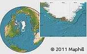 Satellite Location Map of Akuliaruseq