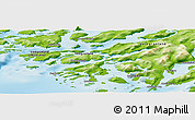 Physical Panoramic Map of Alluitsoq