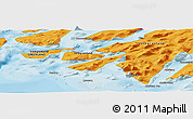 """Political Panoramic Map of the area around 60°37'44""""N,45°49'30""""W"""