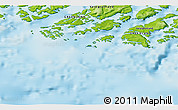 """Physical 3D Map of the area around 60°37'44""""N,46°40'29""""W"""
