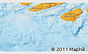 """Political 3D Map of the area around 60°37'44""""N,46°40'29""""W"""