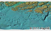"""Satellite 3D Map of the area around 60°37'44""""N,46°40'29""""W"""