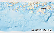 """Shaded Relief 3D Map of the area around 60°37'44""""N,46°40'29""""W"""