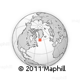 """Outline Map of the Area around 60° 37' 44"""" N, 46° 40' 29"""" W, rectangular outline"""