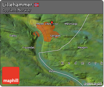 Free Satellite Map of Lillehammer
