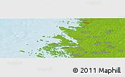 Physical Panoramic Map of Rauma