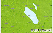 """Physical Map of the area around 60°58'34""""N,22°10'29""""E"""