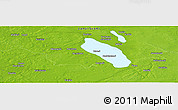 """Physical Panoramic Map of the area around 60°58'34""""N,22°10'29""""E"""