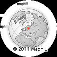 Outline Map of Kouvola, rectangular outline