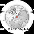 Outline Map of Lappeenranta, rectangular outline