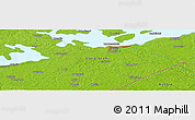 """Physical Panoramic Map of the area around 60°58'34""""N,28°7'30""""E"""