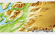 """Physical 3D Map of the area around 60°58'34""""N,44°58'30""""W"""