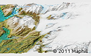 """Satellite 3D Map of the area around 60°58'34""""N,44°58'30""""W"""