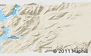 """Shaded Relief 3D Map of the area around 60°58'34""""N,44°58'30""""W"""