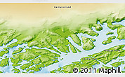 """Physical 3D Map of the area around 60°58'34""""N,46°40'29""""W"""
