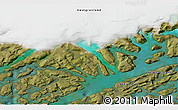 """Satellite 3D Map of the area around 60°58'34""""N,46°40'29""""W"""
