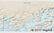 """Shaded Relief 3D Map of the area around 60°58'34""""N,46°40'29""""W"""