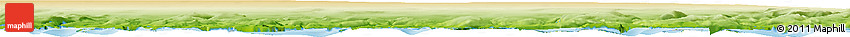 """Physical Horizon Map of the Area around 60° 58' 34"""" N, 46° 40' 29"""" W"""