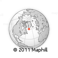 """Outline Map of the Area around 60° 58' 34"""" N, 46° 40' 29"""" W, rectangular outline"""