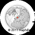 Outline Map of Alfta, rectangular outline