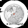 Outline Map of Pori, rectangular outline