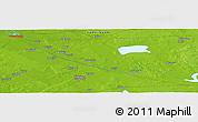 Physical Panoramic Map of Punapakka