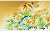 Physical 3D Map of Narsarsuaq